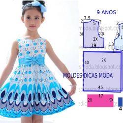 Выкройка летнего платья для девочки 9 лет (Шитье и крой)