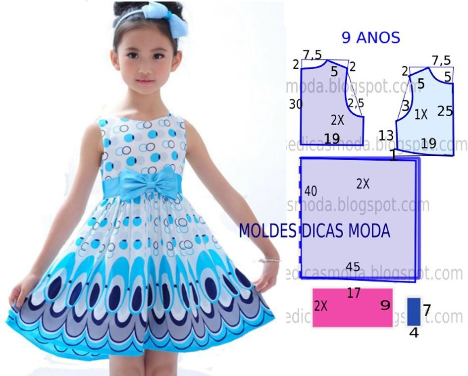Платье для девочек. как сшить 944