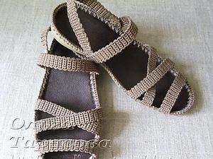 Мастер-класс: «Вязаные сандалии, или Обувь из ничего» (Вязание крючком)