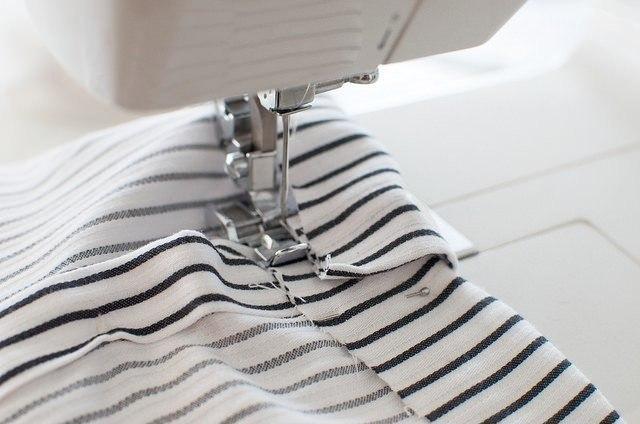 Шитье рукава рубашки