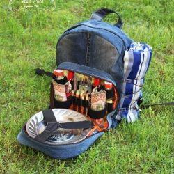 Шьем из джинсовой ткани удобный рюкзак для пикника (Шитье и крой)