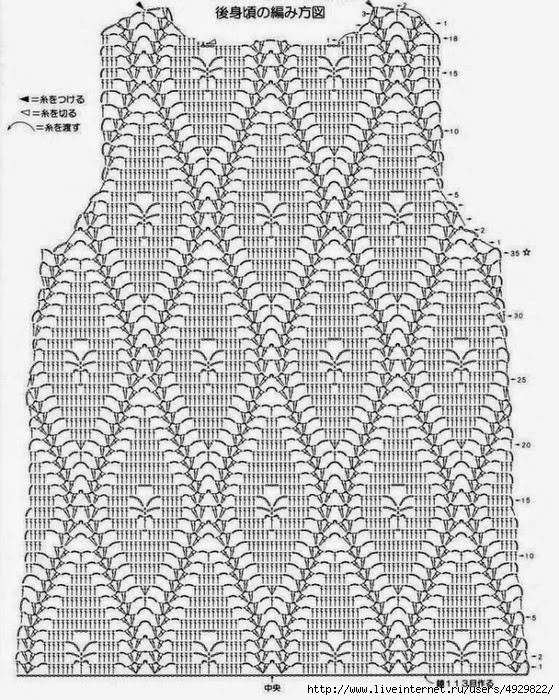 Вязание крючком кофты японские схемы вязания 172