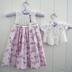 Комплект «Розовое облако» на 1-1,5 года (Вязание крючком)