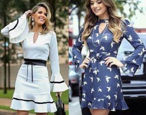 Выкройка платья с длинным рукавом на размеры евро от 36 до 52 (Шитье и крой)