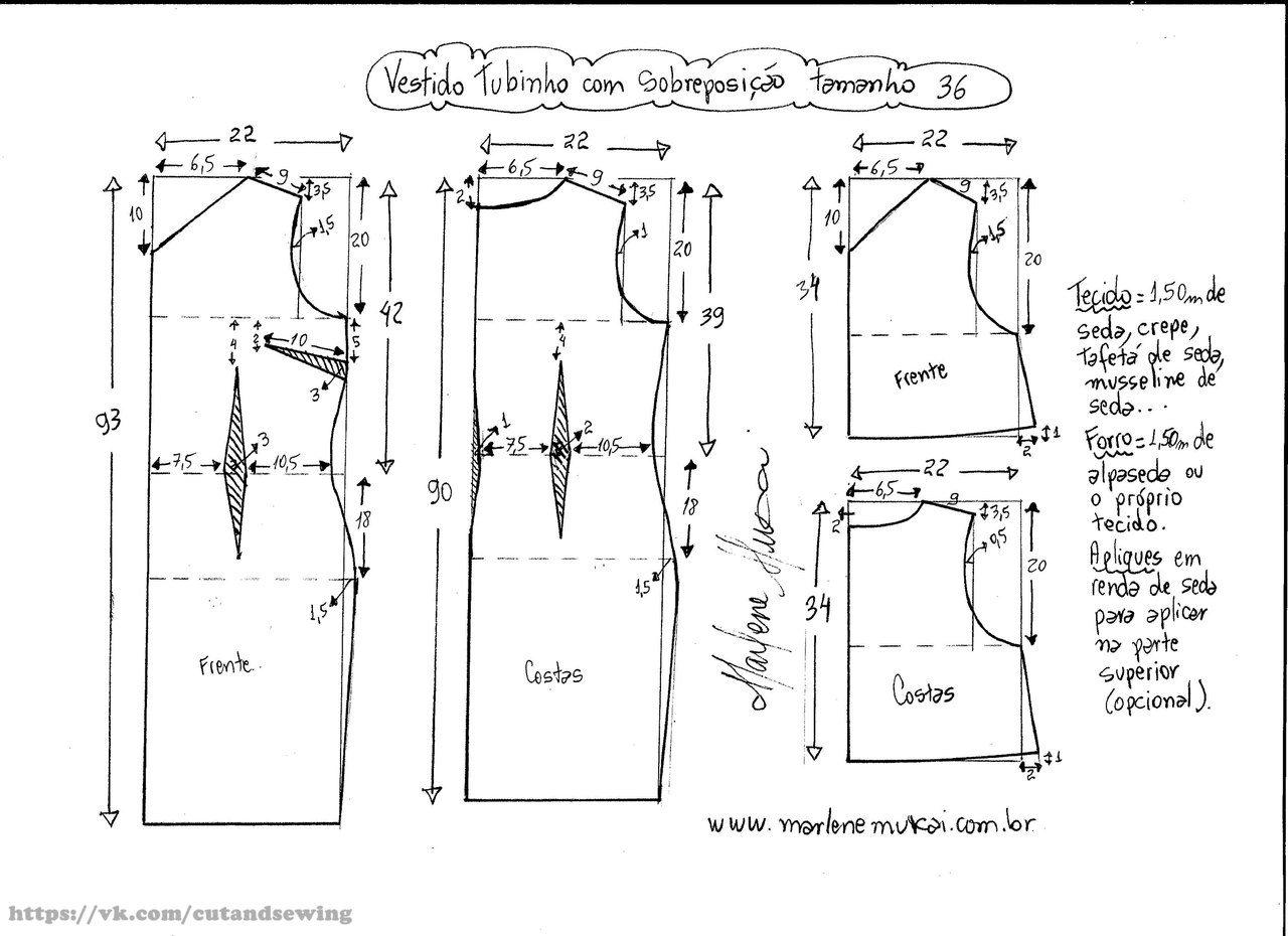 Как сделать выкройку платья на 50 размер