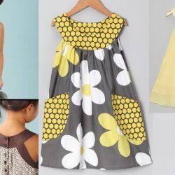 Выкройка летнего детского платья на возраст от 1 года до 14 лет (Шитье и крой)