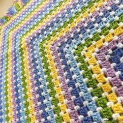 Разноцветный детский плед крючком (Вязание для дома)