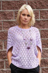 Пуловер с необычными рукавами. Схемы (Вязание спицами)