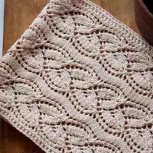 Красивый узор для вязания шарфа (Вязание спицами)