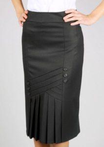 Выкройка юбки-карандаш со складками в передней части (Шитье крой)
