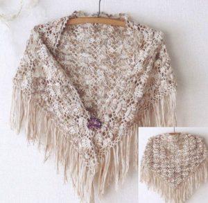 Очень красивая шаль Такая красота подойдёт для любого случая!!! (Вязание крючком)