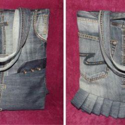 Превращаем джинсы в элегантную сумку… Джинсы я теперь больше никогда не выкидываю! (Шитье и крой)