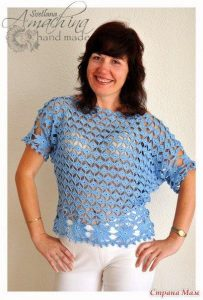 Блуза «Монетки» (Вязание крючком)