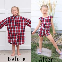 Восхитительные платья для детей из старых мужских рубашек (Шитье и крой)