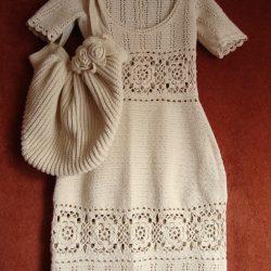 Миленькое летнее платье (Вязание крючком)