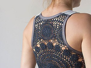 Майка с кружевной спиной или спиной из вязаной салфетки (Шитье и крой)