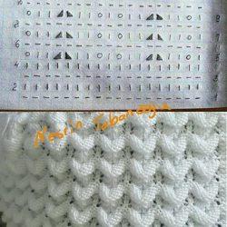 Объемный узор спицами. Схема вязания (УЗОРЫ СПИЦАМИ)