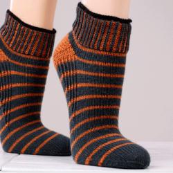 Вязание носков с укрепленной пяткой (Вязание спицами)