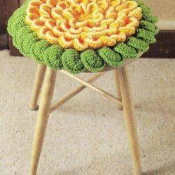 Цветочные сидушки крючком на стулья. Схемы вязания (Вязание крючком)