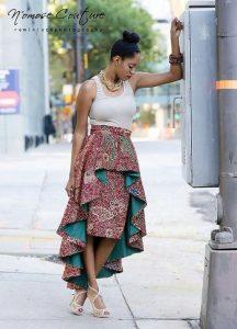 Выкройка прямой юбки-карандаш и верхней юбки с разноуровневым подолом (Шитье и крой)