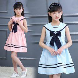 Детское платье в морском стиле.Размеры: от года до 14 лет (Шитье и крой)