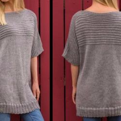 Такой свитер сможет связать даже начинающая вязальщица (Вязание спицами)
