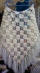 Цветочная шаль (Вязание крючком)