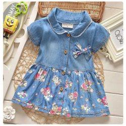 Джинсовое платье для девочки.Размеры на возраст от года до 14 лет (Шитье и крой)