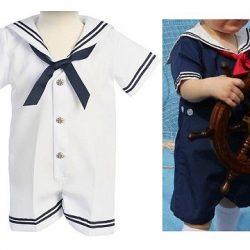 Выкройка комбинезона для малыша в морском стиле, размер от 3 — до 36 месяцев (Шитье и крой)