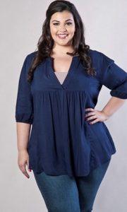 Выкройка блузки для полных женщин (Шитье и крой)