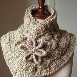 Красивый шарф (Вязание спицами)