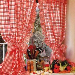 Кухонные занавески на петлях с воланами  (Шитье и крой)