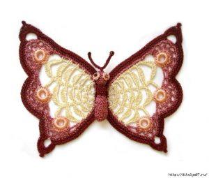 Как связать бабочку крючком (УЗОРЫ КРЮЧКОМ)