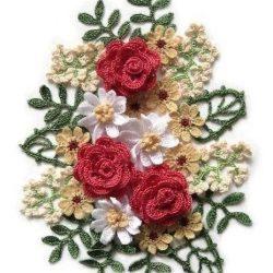 Вязанный букет крючком (Вязаные цветы)