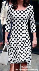 Выкройка женского платья — квадратный вырез и юбка  «годе» (Шитье и крой)