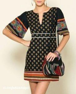 Выкройка женского платья с рукавом колокол (Шитье и крой)