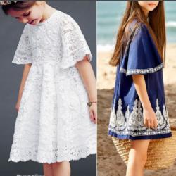 Выкройка миленького платья для девочки на возраст от года до 14 лет (Шитье и крой)