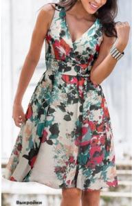 Выкройка летнего платья. Размеры евро от 36 до 56 (Шитье и крой)