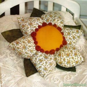 Подушка — цветок. Мастер-класс (Шитье и крой)