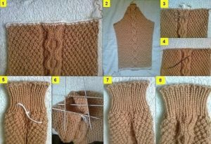 Вязание изделия не с резинки, а непосредственно с деталей изделия (Уроки и МК по ВЯЗАНИЮ)