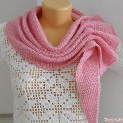 Шарф — платок тунисским вязанием (Вязание крючком)