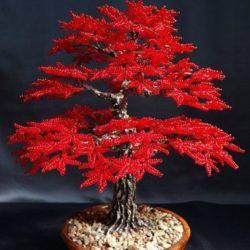 Осеннее дерево из бисера. Мастер-класс (Бисероплетение)