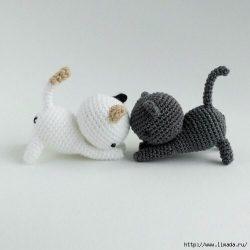 Забавные котята крючком. Описание (Вязаные игрушки)