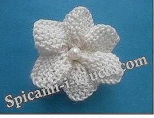 Цветок спицами (Вязаные цветы)