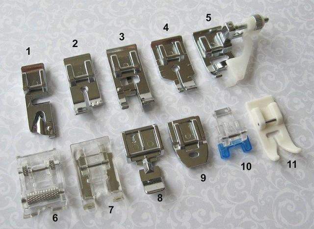 Прижимные лапки для швейной машины