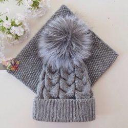 Комплект из шапки и снуда (Вязание спицами)
