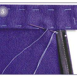 Обработка верха юбки притачным поясом (Шитье и крой)