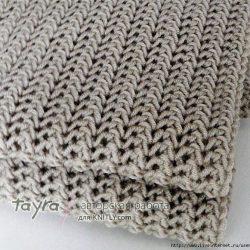 Красивый узор для шарфа (УЗОРЫ СПИЦАМИ)