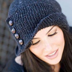 Шляпка Робин (обхват головы 53-55 см, глубина 28 см) (Вязание спицами)