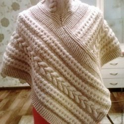 Как связать пончо-шарф (Вязание спицами)